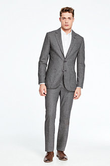 Men's Houndstooth Wool Suit Jacket