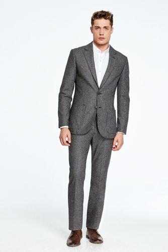 Men's Houndstooth Wool Suit Jacket