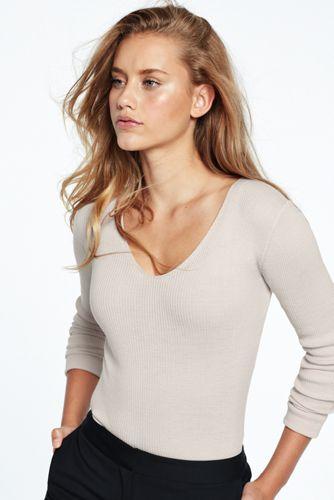 Women's Fitted Merino V-neck