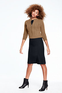 Women's Merino Blend Cropped Cardigan
