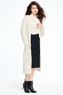 Women's Wool Blend Long Cardigan