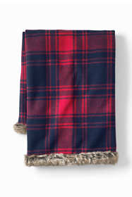 Plaid Knit Throw