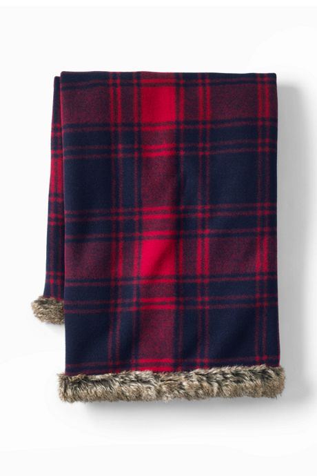 Plaid Knit Throw Blanket