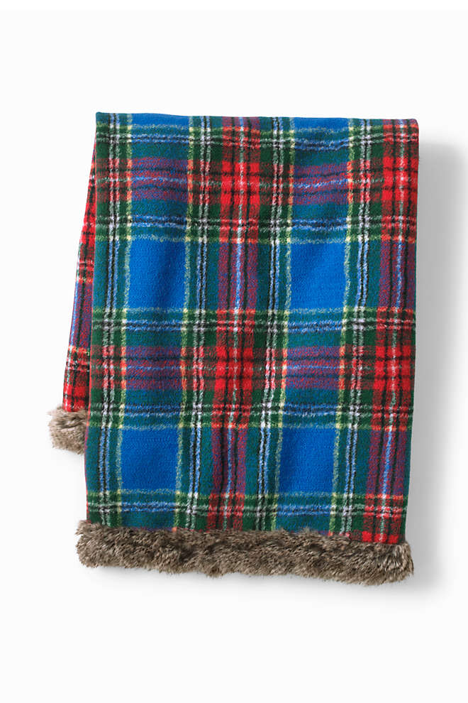 Plaid Knit Throw Blanket, Unknown