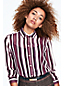Women's Stripe Silk Georgette Oversized Shirt