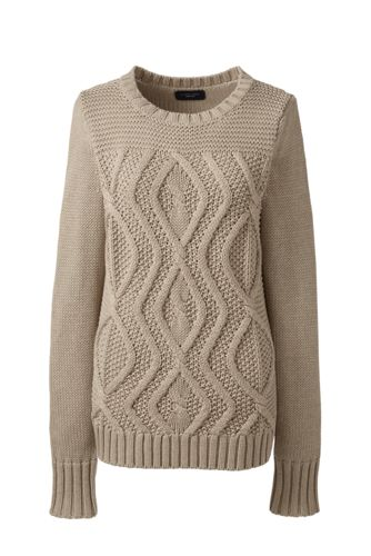 Women's Regular Drifter™ Mix Cable Crew Neck Jumper