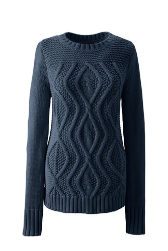 Women's Drifter Cotton Cable Sweater from Lands' End