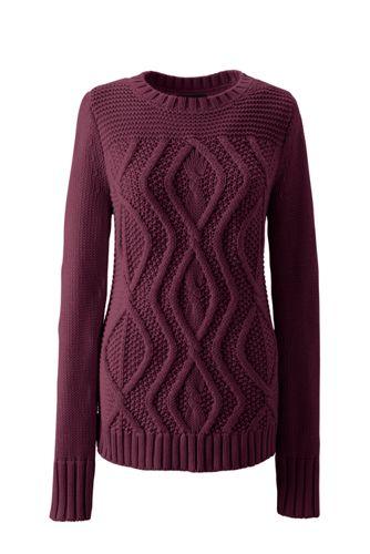 Drifter-Pullover mit Aranmuster für Damen