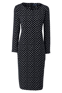 Women's Boatneck Cocoon Dress, Print
