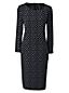 Crêpe-Kleid in Cocoon-Silhouette mit Print für Damen