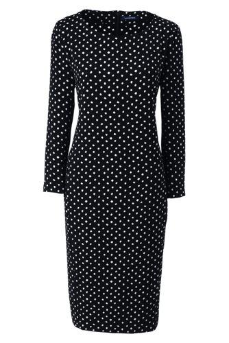 Women's Regular Boatneck Cocoon Dress, Print