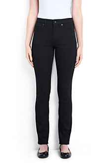 Women's Black Xtra Life Mid Rise Slim Leg Stretch Jeans