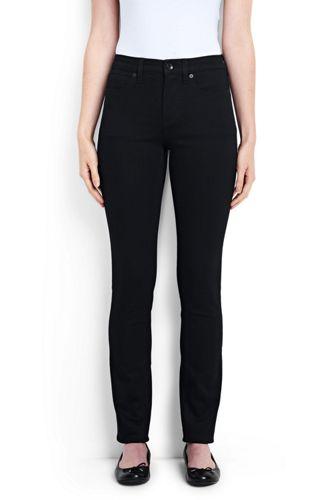 Womens Mid Rise Slim Leg Xtra Life Denim Jeans - 16 34 Lands End hhfxRLQjPW