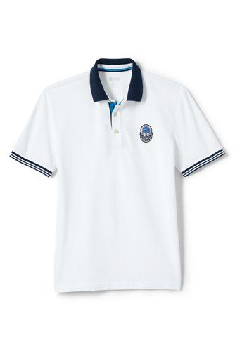 Weißes Athleisure Piqué-Polo für Herren