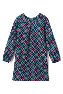 Girls' Print A-line Corduroy Dress