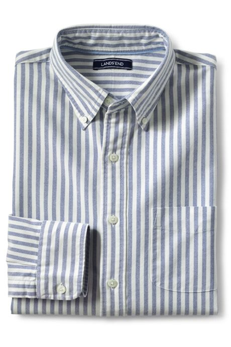 Men's Tall Traditional Fit  Buttondown Collar Sail Rigger Oxford Shirt