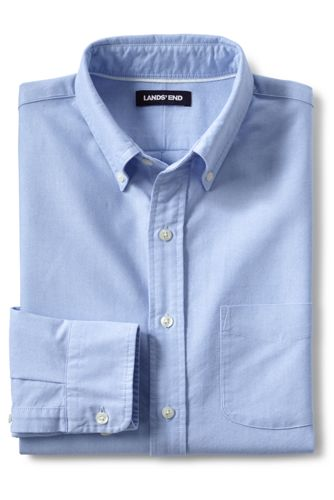 Men S Buttondown Solid Sail Rigger Oxford Shirt From Lands End