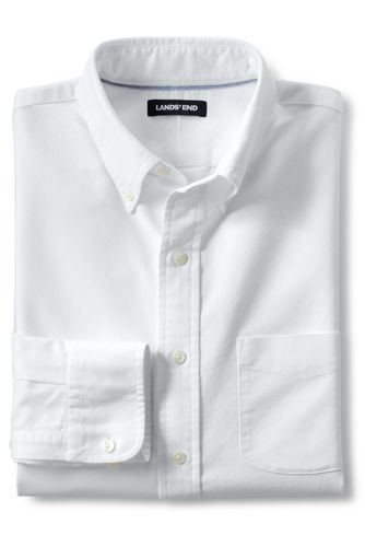 Men\u0027s Traditional Fit Buttondown Solid Sail Rigger Oxford Shirt