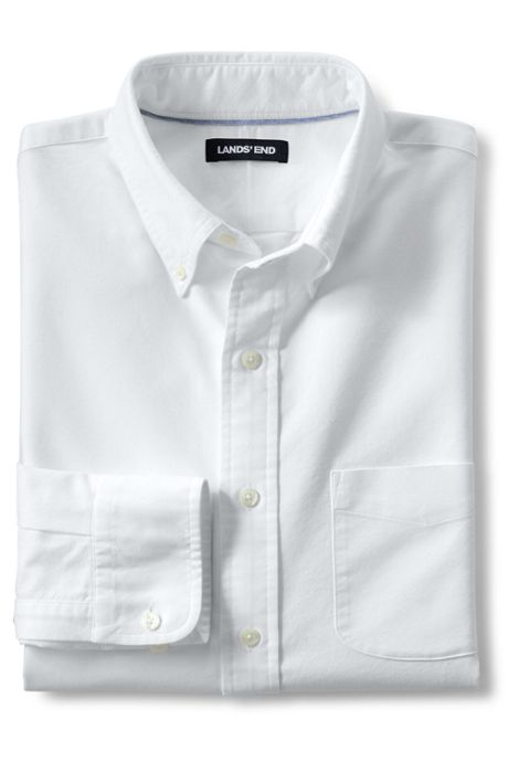 Men's Tall Traditional Fit Buttondown Solid Sail Rigger Oxford Shirt