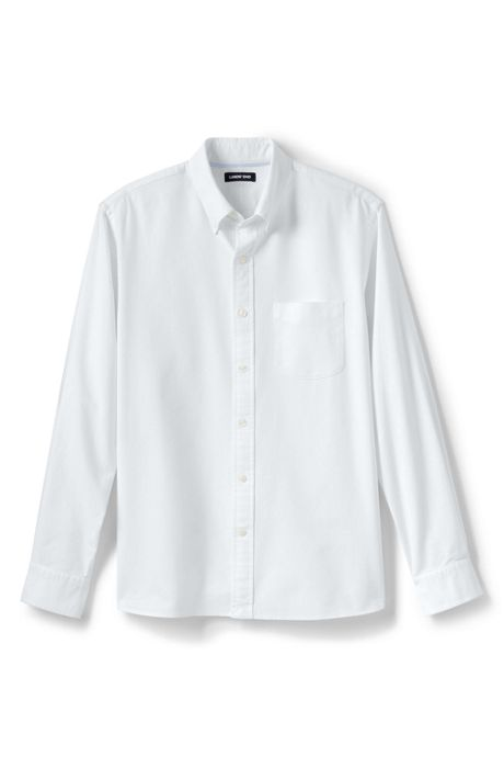 Men's Tall Tailored Fit Buttondown Solid Sail Rigger Oxford Shirt