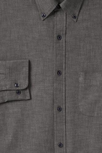 La Chemise Chambray Coupe Classique Col à Pointes Boutonnées, Homme Stature Standard