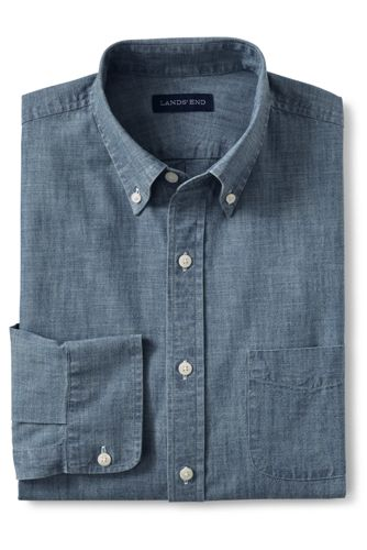 0f058edb32b Men s Regular Traditional Fit Chambray Shirt
