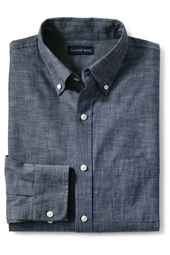 Men's Regular Traditional Fit Chambray Shirt