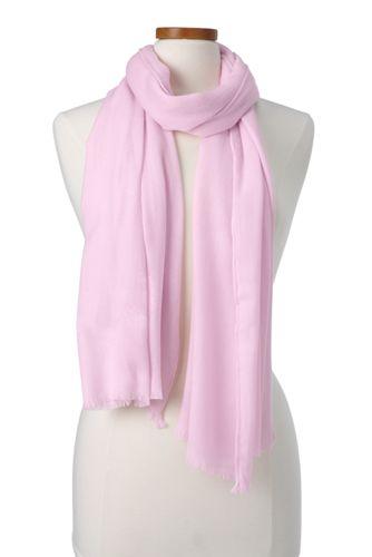 Zartrosa Maxi-Schal für Damen