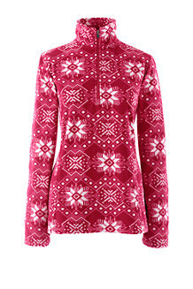 Women's Thermacheck-100 Patterned Fleece Half-zip Pullover