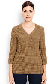 Women's Tall Lofty 3/4 Sleeve V-neck Sweater