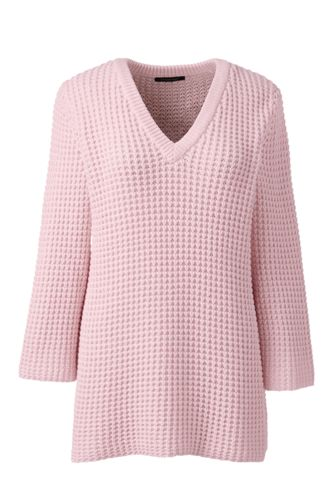 Le Pull Gaufré Manches 3/4, Femme Stature Standard