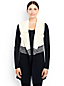 Women's Regular Lofty Cotton Waterfall Sleeveless Cardigan