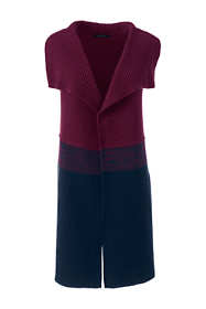 Women's Plus Size Lofty Colorblock Waterfall Sweater Vest