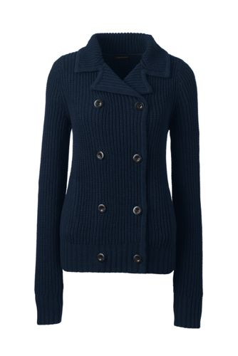 Women's Regular Lofty Cotton Double Breasted Shaker Jacket