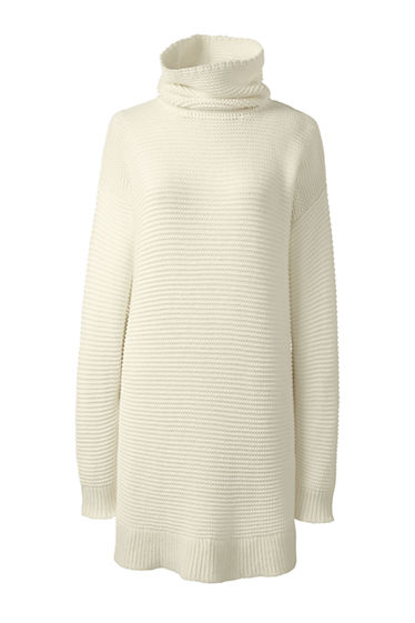 Women's Lofty Turtleneck Tunic Sweater from Lands' End