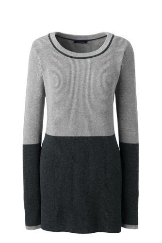 Le Pull Tunique Bicolore, Femme Stature Standard