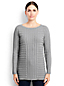 Le Pull Tunique Texturé, Femme Stature Standard
