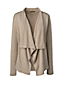 Women's Regular Fine Gauge Cotton Waterfall Cardigan