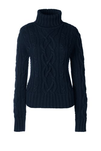 Drifter™ Pullover mit Rollkragen und Aran-Muster