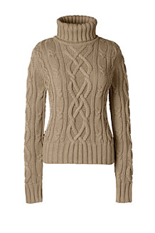 Women's Drifter Aran Roll Neck Jumper