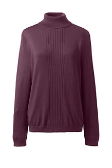 Women's Fine Gauge Supima® Rib Front Roll Neck Jumper
