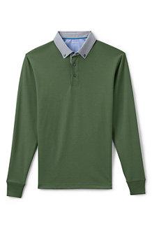 Supima-Langarmpolo mit Hemdkragen für Herren, Classic Fit