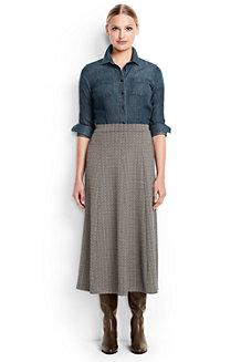 Women's Jacquard Ponte Jersey Midi Skirt