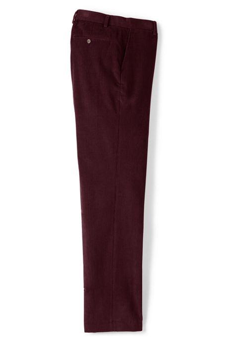 Men's Traditional Fit Plain Front 10-wale Corduroy Trousers