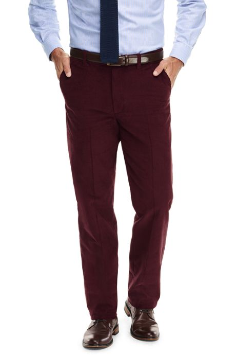 Men's Comfort Waist 10-wale Corduroy Dress Trousers