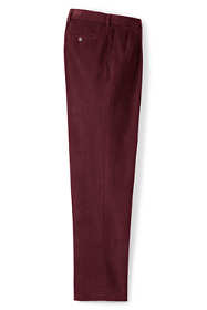 Men's Traditional Fit Pleat Front 10-wale Corduroy Trousers