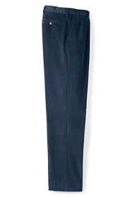 Men's Comfort Waist Pleat Front 10-wale Corduroy Dress Trousers