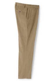 Men's Traditional Fit Plain Front 18-wale Corduroy Trousers