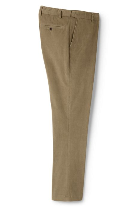 Men's Comfort Waist 18-wale Corduroy Dress Trousers