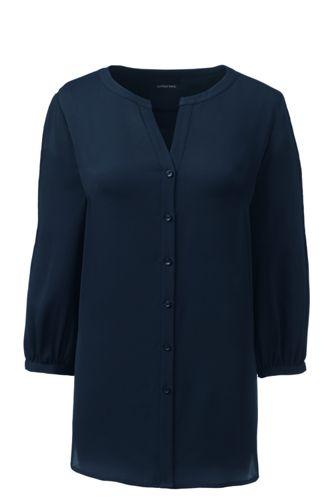Women's Regular Pintucked Sleeve Blouse